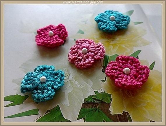 Easy Flower Crochet Pattern 4 Petals Flowers Crochet Pattern