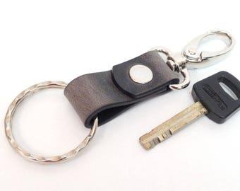 Keychain leather Keychain, leather key fob