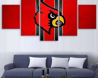 Cardinals 5pc Canvas Set
