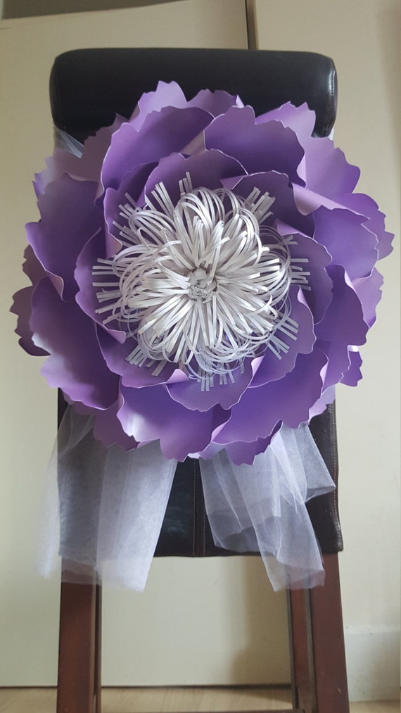 Giant paper flower decoration purple table and chair mightylinksfo