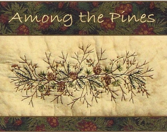 Among the Pines - Pine Spray - Hand Embroidery Pattern by Beth Ritter - Instant Digital Download