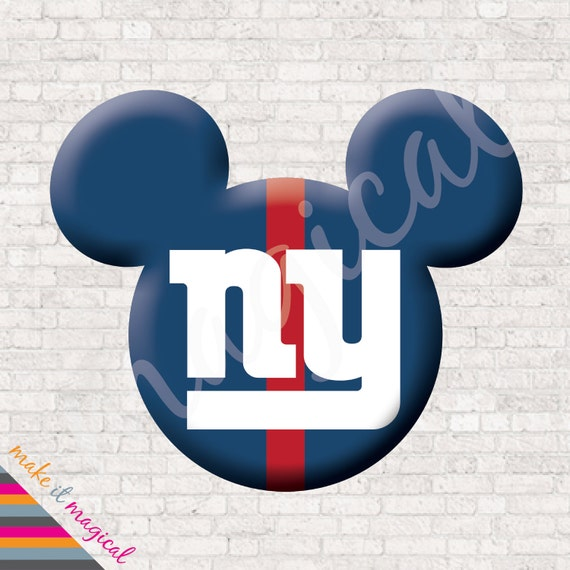 New York Giants Mickey Mouse Head Digital Download Ny Giants Mickey