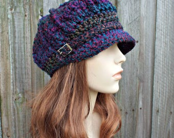 Bedazzle Jewel Tones Womens Newsboy Womens Hat - Spring Monarch Ribbed Crochet Newsboy Hat Crochet Hat Womens Accessories