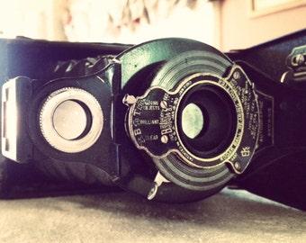 Old Camera, antique camera, Folding camera, Autographic Brownie, film camera, Kodak No. 2A