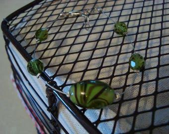 Fancy bracelet simple green beads