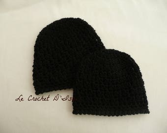 "DUO HAT MOTHER / DAUGHTER CROCHETED ""COMME MAMAN"""