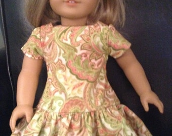 "Doll Clothes Dress Fits 18"" Doll"