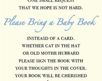 Oh Baby - Baby Boy Shower Book Request - Blue Floral