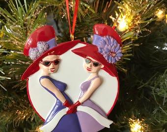 Red Hat Ladies/2 Ornament