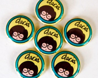 Daria 1inch Pinback Button or Magnet