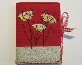 Needle case with Floral Applique