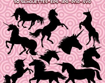 Unicorns Silhouette, Unicorn Graphics, Unicorn Images, Unicorn Files,  Instant Download 88