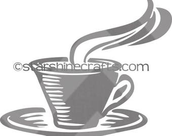 Coffee cup SVG for personal cutting machines - instant download