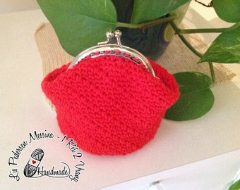 Coin purse, or purse, red with CLAC click