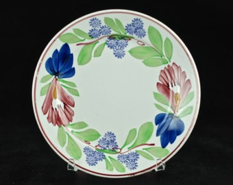 "Antique Société Céramique Maestricht Stick Spatter ""Virginia"" Hand Painted Floral 6.5"" Plate"