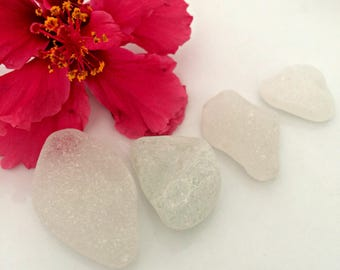 White Sea Glass, Authentic Sea Glass, Large Sea Glass, Frosted Sea Glass, Collectible Glass, Surf Tumbled, Jewelry Supplies,Smooth Sea Glass