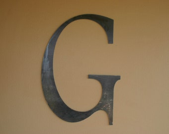 Custom Made-to-Order Metal Block Letter - Home Decor