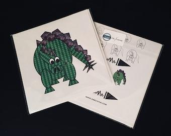 Dinosaur stegosaurus Greeting Card by DrawMe Designs