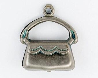 15mm Antique Silver Handbag Charm #CHA033