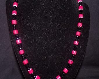 "Pink ""Camo"" Necklace"