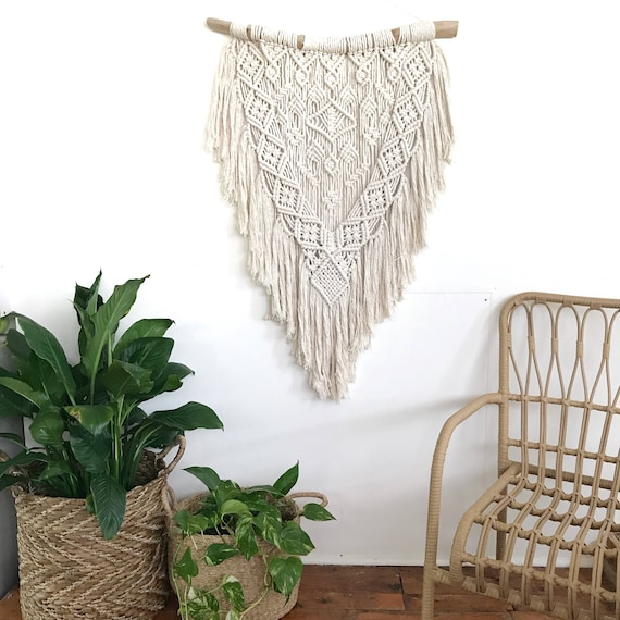 "Extra Large Macrame Wall Hanging ""Night Bloom"""