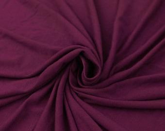 Magenta Dark - V Rayon Spandex Jersey Knit Fabric by the Yard - 1 Yard Style 409