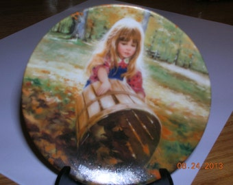 AUTUMN  LEAVES  Miniature Donald Zolan Plate