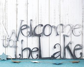 Welcome To The Lake Metal Wall Decor   Lake House Decor   Metal Wall Art   Lake Wall Decor   Cabin Decor   Metal Sign   Metal Sign