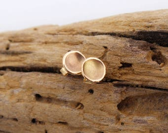 14k Solid Gold Stud Earrings. 14k Solid Gold Studs. Stud Earrings 14k Gold. Small Gold Studs 14k.  Round Gold Stud Earrings. Concave Studs.