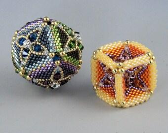 Opulence bead, peyote tutorial