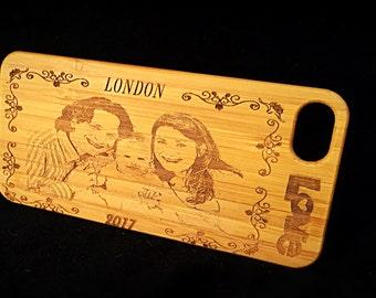 Cas de téléphone en bois Costumised