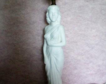 Art Nouveau Statue of Lady ~ Figural Lamp - 1855