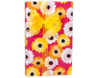 Daisy Inspirations  Gift Wrap Wrapping Paper-18ft Roll w. 20Gift Tags