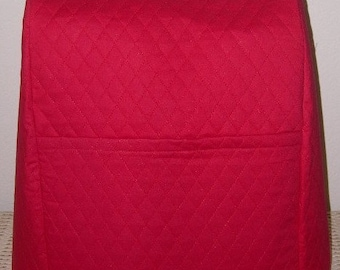 Red Quilted Mixer Cover Tilt Head Size