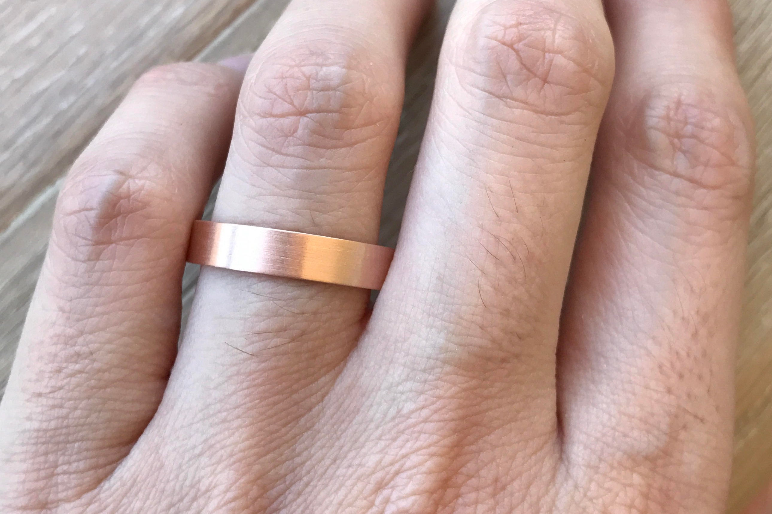jewelry rose gold bands img wedding julieann solid by milgrain thin band raised