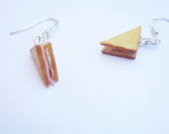 Butter club ham sandwich earrings