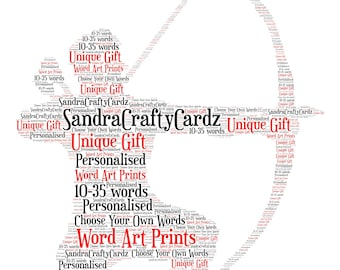 Archer Personalised Word Art Print, Archery Gift, Gift for an Archer, Birthday Gift, Gift For Him, Christmas Gift