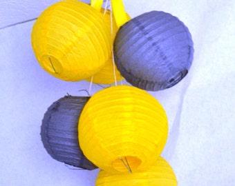 You pick COLORS-Pre-assembled 6 Paper Lanterns Mobile-