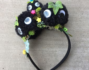 Studio Ghibli Soot Sprite Headband - Anime Cosplay Headwear Accessory - Inspired by Spirited Away & My Neighbor Totoro