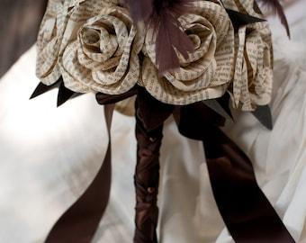 Book Page Steampunk Bridal Bouquet