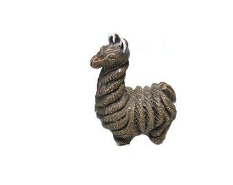 Vintage Ceramic Llama Figurine Llama Statue Nursery Decor Baby Shower Gift Llama Nursery South American Art