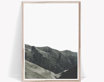 Nature Print,Minimalist Print,Nature Wall Art,Mountain Print,Mountain Wall  Art