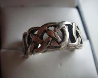Silver Celtic Weave Ring