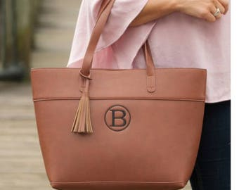 Monogrammed purse, large purse, weekend tote