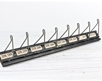 Vintage Industrial Coat Rack Hat Rack Display Rack  The Gates Rubber Co Belt Rack Up Cycled Coat Rack Industrial Decor Rustic Decor