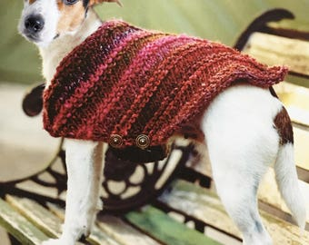 Dog Coat for Medium Sized Dog, Knitting Pattern