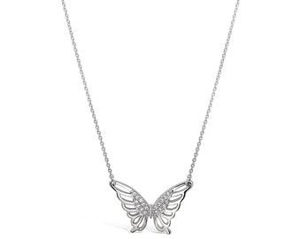Silver Butterfly Necklace - Butterfly Memorial Necklace - Butterfly Wings Jewelry - Butterfly Jewelry - Memorial Jewelry - Butterfly Gifts