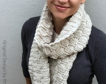 Crochet Scarf Pattern - Autumn Leaves Long Scarf Crochet Pattern No.516 Instant Digital Download PDF File English