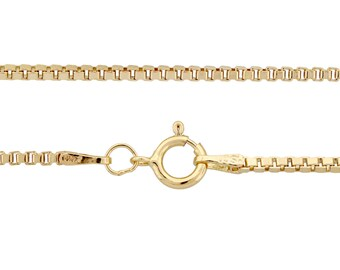 14kt Gold Filled 1.5mm 22 Inch Box chain with spring ring clasp - 1pc Finished Box Chain (3375)/1
