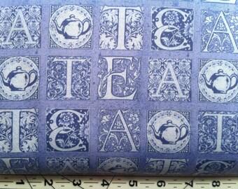 Short And Stout Tea Letters Blue
